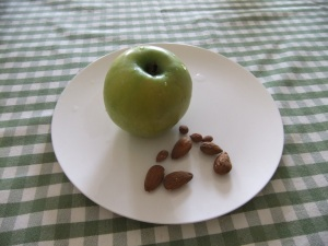 Apple almond and apricot kernal snack