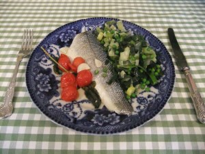 Sea bass al Aqua Pazza