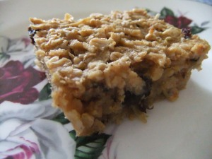 Moist apple oat slices