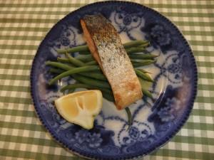Simple garlic & tamari salmon