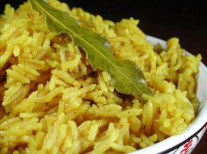 Brown rice with turmeric - great with curry