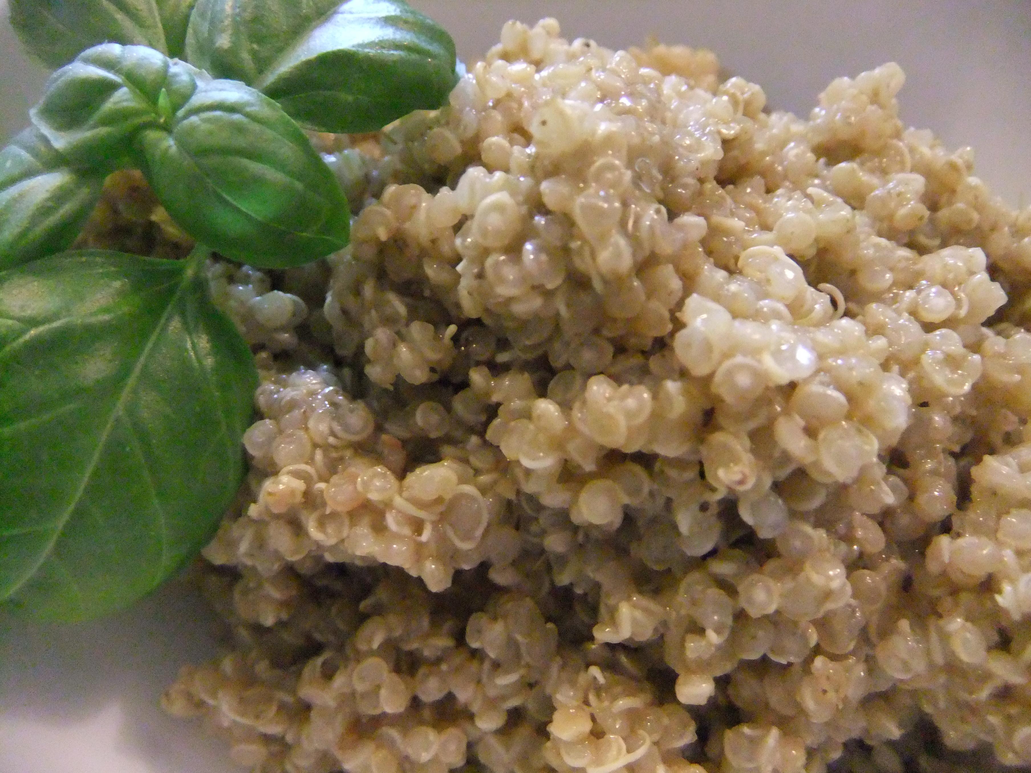 Garlic, Basil And Parmesan Quinoa Recipe — Dishmaps