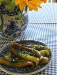 Green peppers with oregano - simply add feta