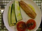 Kipper courgette tomato and oregano breakfast