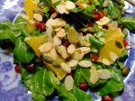 Spinach pomegranate & orange salad