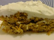 Carrot cake Wheat Belly bl moist slice closeup
