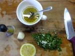 Lemon, garlic, oregano for fish