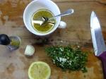 Lemon, garlic, oregano for fish