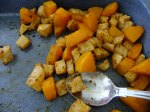 Delicious squash and celeriac home fries