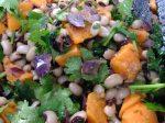 Black-eyed bean sweet potato and coriander medley